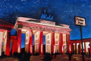 Berlin Brandenburg Gate with Paris Place by Martina Bleichner