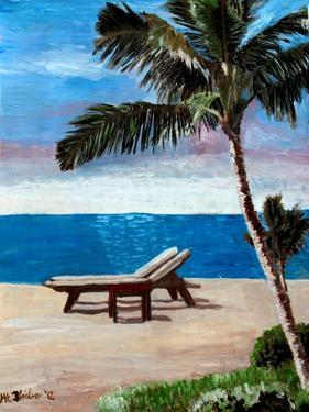 Caribbean Strand with Beach Chairs by Martina Bleichner