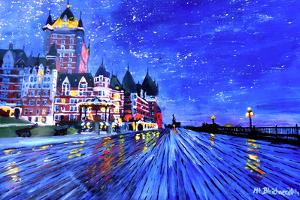 Fairmont Le Chateau Frontenac Quebec Canada By Nig by Martina Bleichner