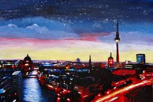 Gloomy Skyline of Berlin Germany by Martina Bleichner