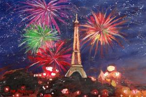 Spectacular Paris France Silvester Fireworks by Martina Bleichner
