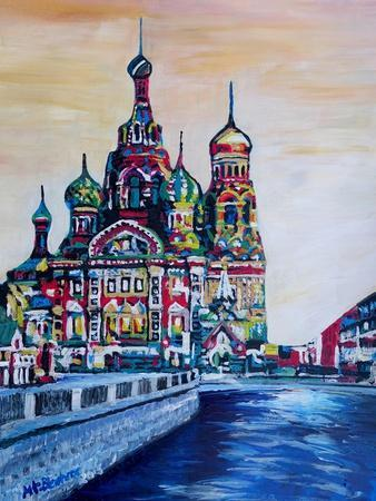 St Petersburg With Church Of The Savior On Blood