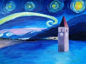 Starry Night in Switzerland Vierwaldstaetter by Martina Bleichner