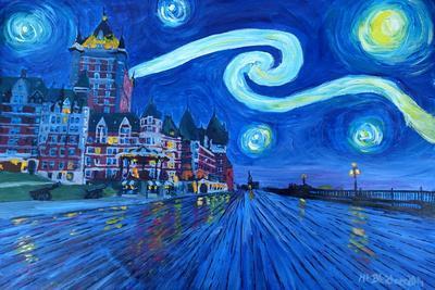 Starry Night Quebec Chateau Frontenac Van Gogh