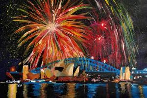 Sydney Australia Silvester with Opera Fireworks by Martina Bleichner