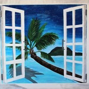Window to Paradise Beach by Martina Bleichner