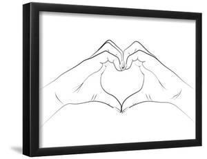 Hand Heart by Martina