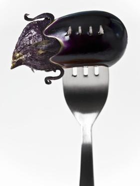 Aubergine on Fork by Martina Schindler