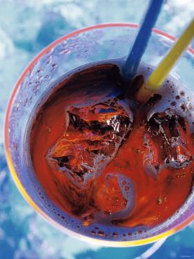 Soda in Glass with Ice by Martina Urban