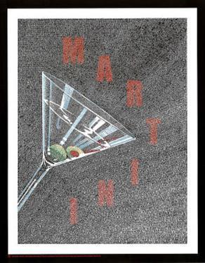 Martini Glass List Art Print Poster
