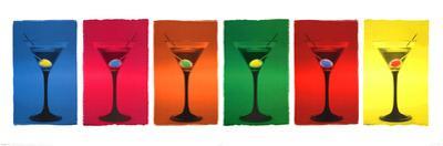 Martini Glasses (Pop Art) Art Poster Print