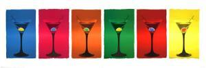 Martini Glasses (Pop Art) Art Poster Print