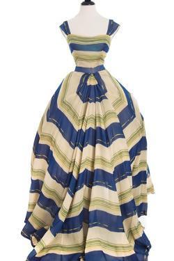 Martinique', a Striped Organza Ball Gown, Christian Dior, 1948-49