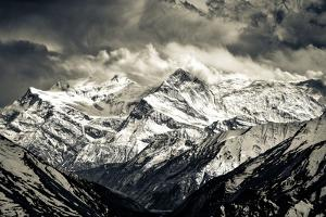 Himalayas Mountains Mochrome Scenic View with Dramatic Sky by MartinM303