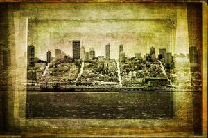 View of San Francisco Skyline in Vintage Filtered Textured Style by MartinM303