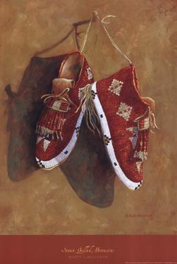 Sioux Quilled Moccasins by Marty LeMessurier