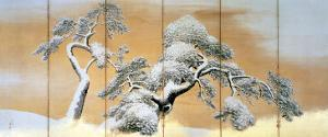 The Pines under Snow by Maruyama Okyo