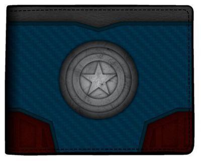 Marvel Captain America - Carbon Fiber Bi-Fold Wallet