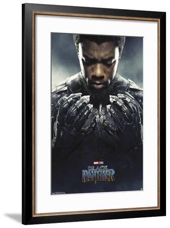 Marvel Cinematic Universe: Black Panther - Black Panther One Sheet--Framed Poster