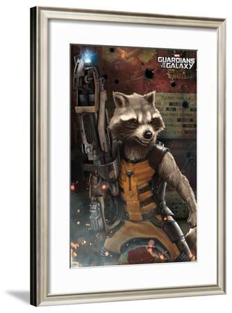 Marvel Cinematic Universe: Guardians of the Galaxy - Rocket Racoon--Framed Poster