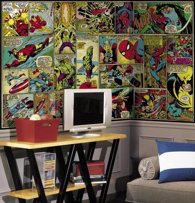 Marvel Classics Comic Panel Mural. Wall Mural Part 7