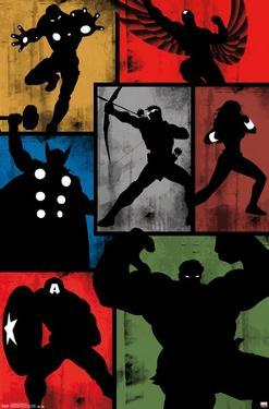 Marvel Comics - Avengers - Simplistic Grid