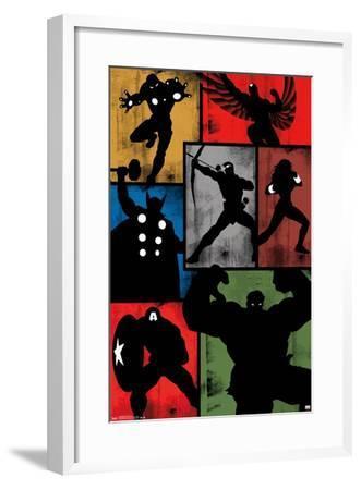 Marvel Comics - Avengers - Simplistic Grid--Framed Poster