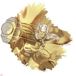 Marvel Comics Retro Badge Featuring Thor