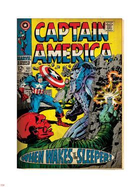 Marvel Comics Retro: Captain America Comic Book Cover No.101, Red Skull (aged)