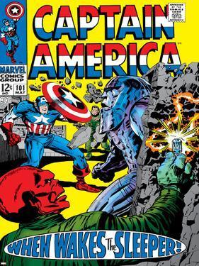 Marvel Comics Retro: Captain America Comic Book Cover No.101, Red Skull, When Wakes the Sleeper