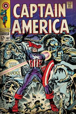 Marvel Comics Retro: Captain America Comic Book Cover No.107, with Red Skull and Bucky (aged)