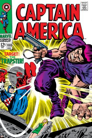 Marvel Comics Retro: Captain America Comic Book Cover No.108, the Trapster