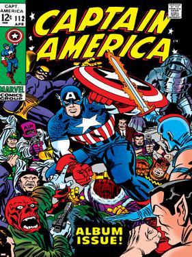 Marvel Comics Retro: Captain America Comic Book Cover No.112, Album Issue!