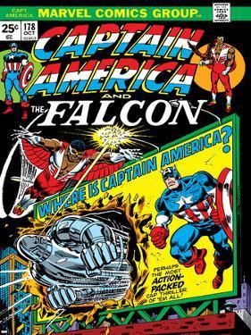Marvel Comics Retro: Captain America Comic Book Cover No.178, with the Falcon