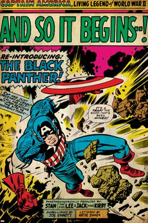 Marvel Comics Retro: Captain America Comic Panel, And So It Begins..! (aged)