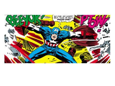 Marvel Comics Retro: Captain America Comic Panel, Fighting, Phase 1, So Far So Good!