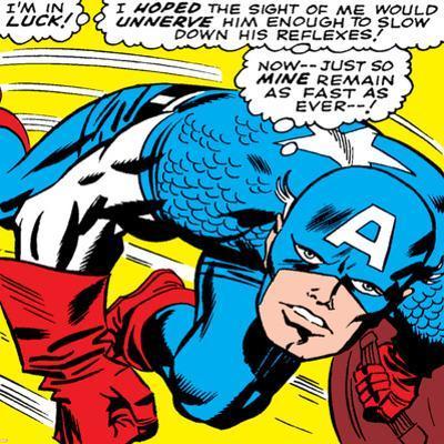 Marvel Comics Retro: Captain America Comic Panel, Monologue, I'm in Luck!
