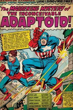 Marvel Comics Retro: Captain America Comic Panel, The Inconceivable Adaptoid! with Bucky (aged)