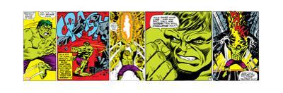 Marvel Comics Retro Design Featuring Hulk