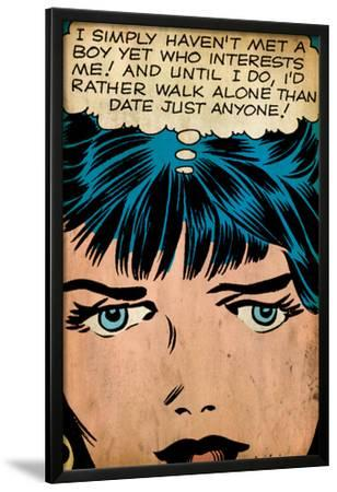 Marvel Comics Retro: Love Comic Panel, Proud Single Woman (aged)