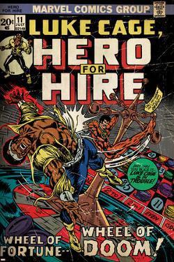 Marvel Comics Retro: Luke Cage, Hero for Hire Comic Book Cover No.11 (aged)