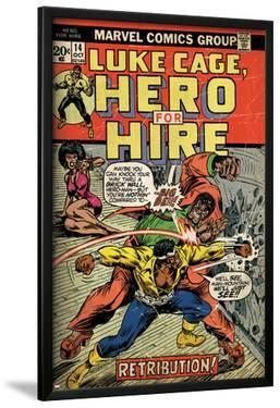 Marvel Comics Retro: Luke Cage, Hero for Hire Comic Book Cover No.14, Fighting Big Ben (aged)