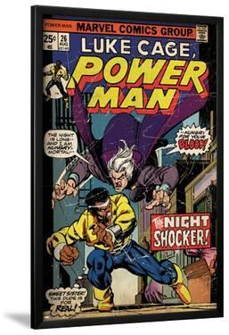 Marvel Comics Retro: Luke Cage, Hero for Hire Comic Book Cover No.26, the Night Shocker! (aged)