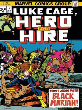 Marvel Comics Retro: Luke Cage, Hero for Hire Comic Book Cover No.5, Black Mariah!