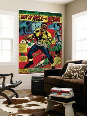 Marvel Comics Retro: Luke Cage, Hero for Hire Comic Panel, Screaming (aged)