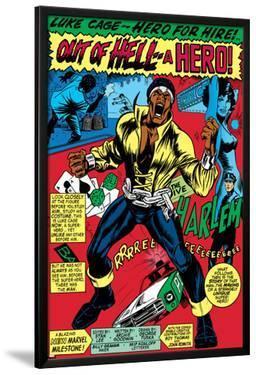 Marvel Comics Retro: Luke Cage, Hero for Hire Comic Panel, Screaming