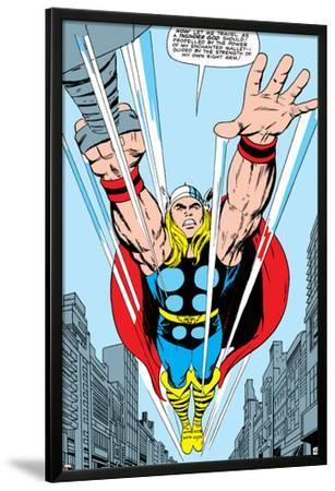 Marvel Comics Retro: Mighty Thor Comic Panel, Flying