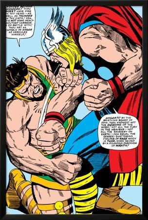Marvel Comics Retro: Mighty Thor Comic Panel, Hercules