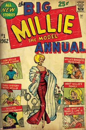 Marvel Comics Retro: Millie the Model Comic Book Cover No.1, the Big Annual (aged)