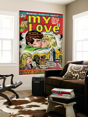 Marvel Comics Retro: My Love Comic Book Cover No.18, Kissing, Love